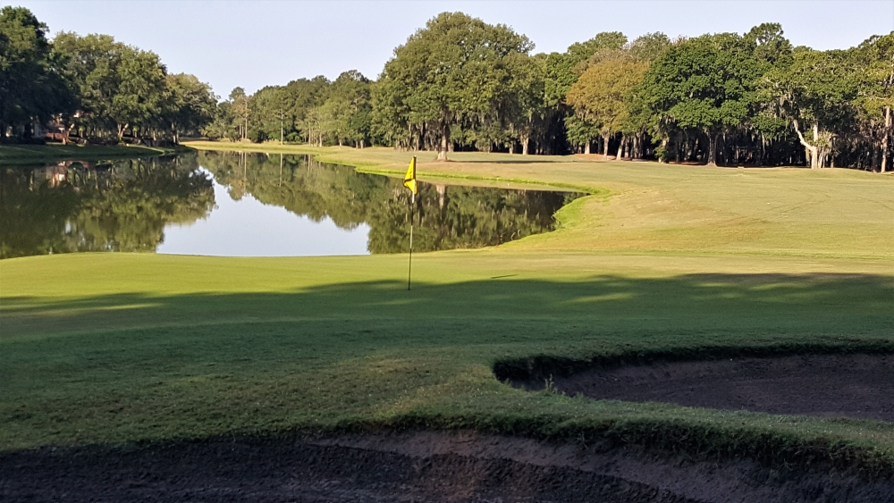 Avoid the Water on Your Approach on Number 8