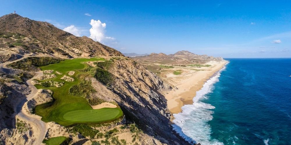 The fifth hole at Quivira Golf Club