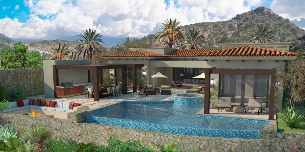 Backyard View: Model Home in Coronado