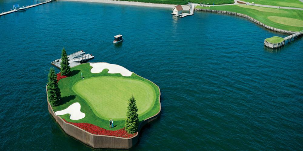 The Coeur d'Alene Resort - The Floating Green