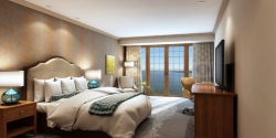 The Lodge of Four Seasons Provides an Artist Rendering of Guest Rooms